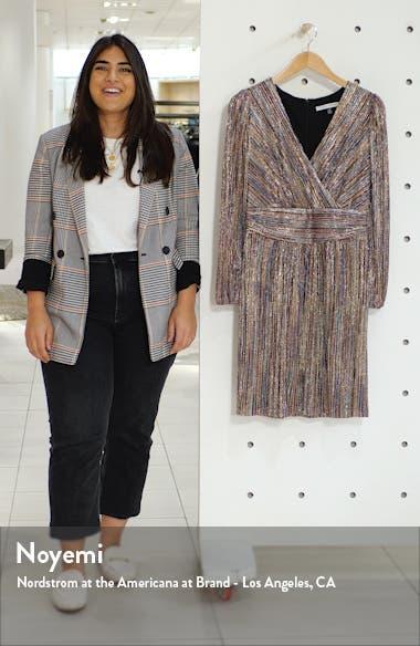 Multicolor Metallic Stripe Long Sleeve Dress, sales video thumbnail