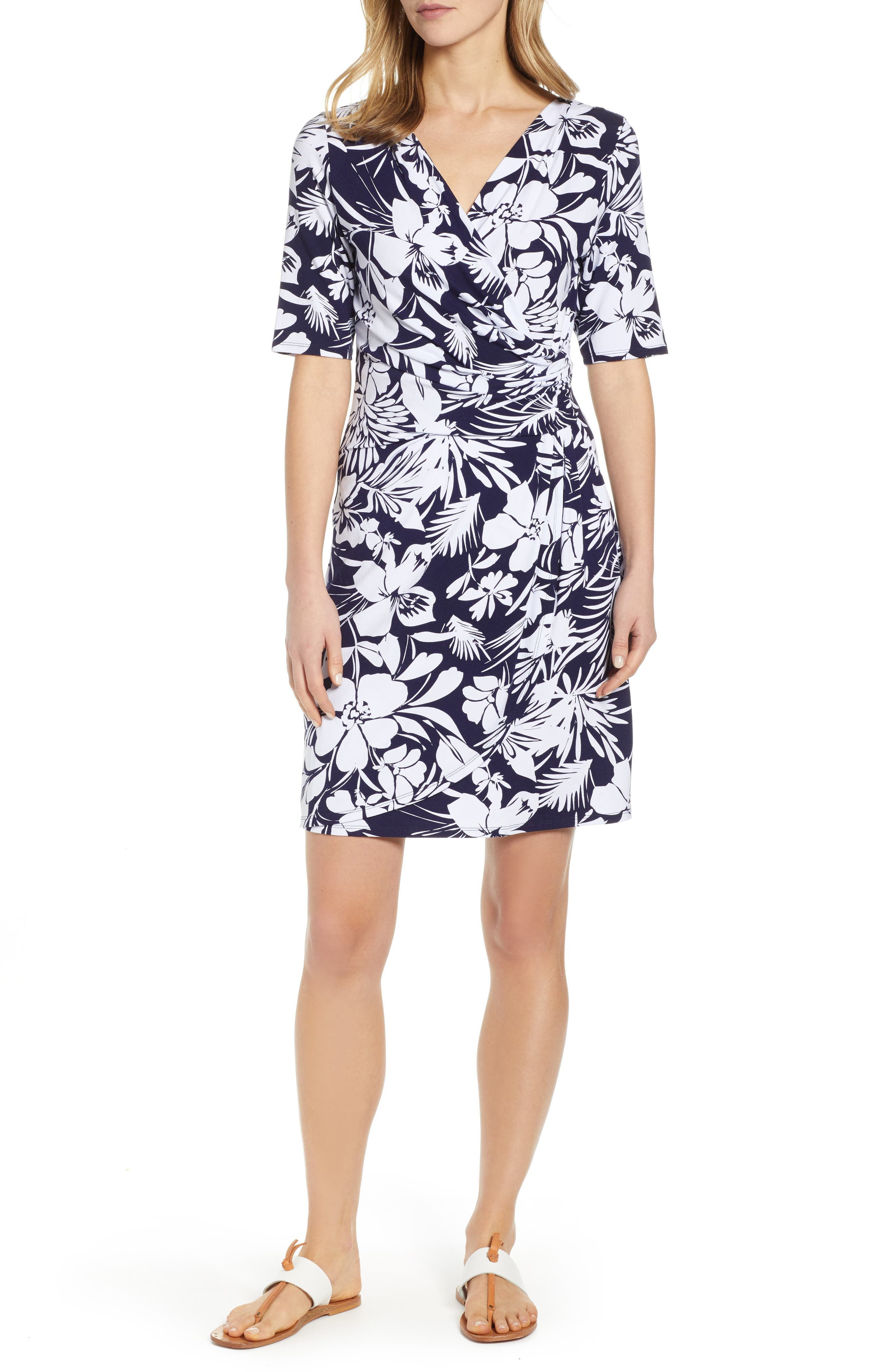 Tommy Bahama Buona Sera Wrap Dress, Blue