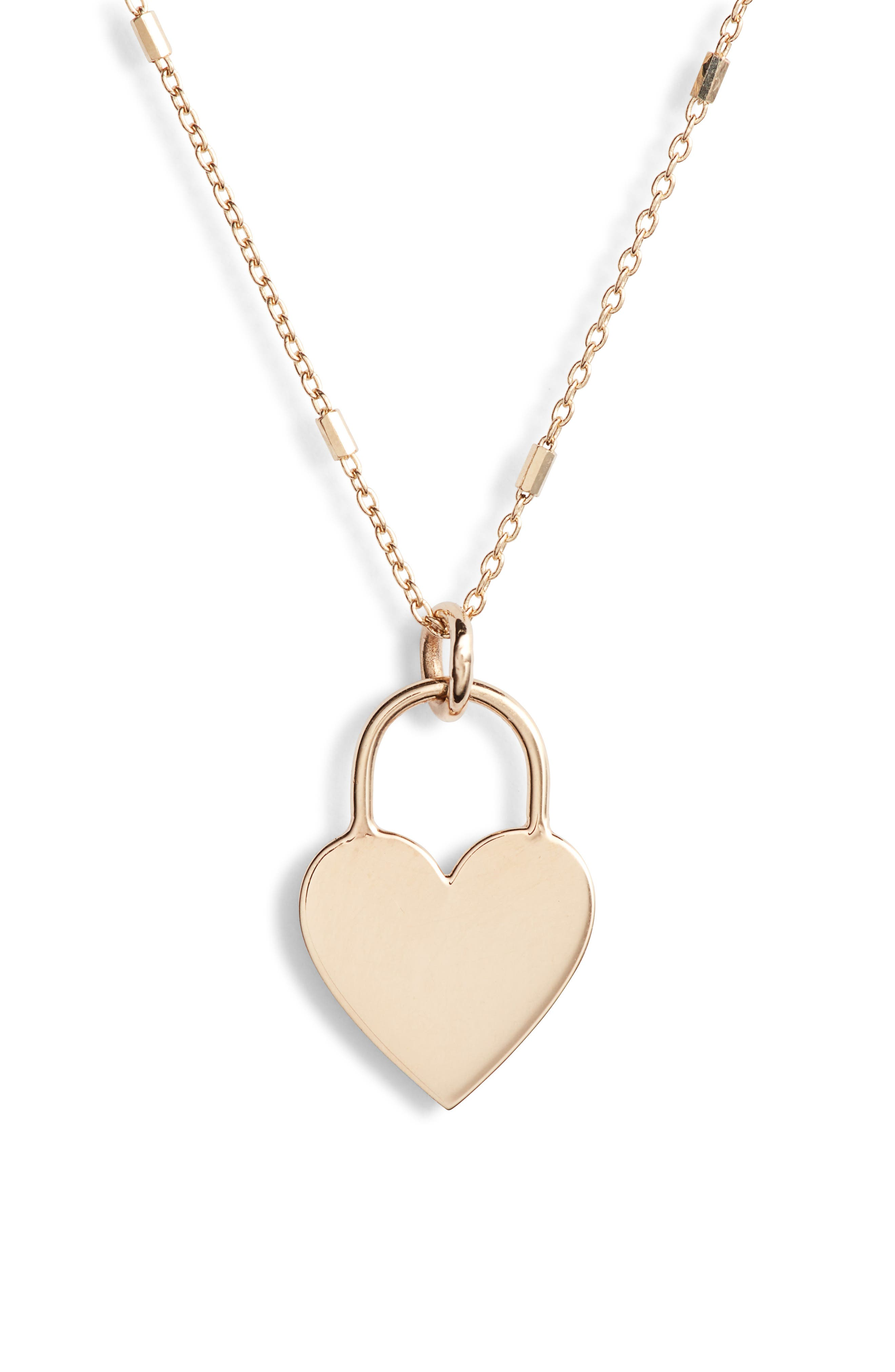Zoe Chicco Small Heart Padlock Necklace