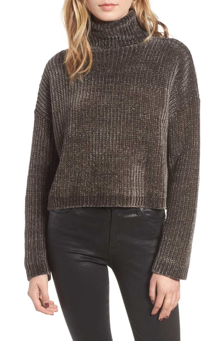 BLANKNYC Chenille Turtleneck Sweater, Main, color, 400
