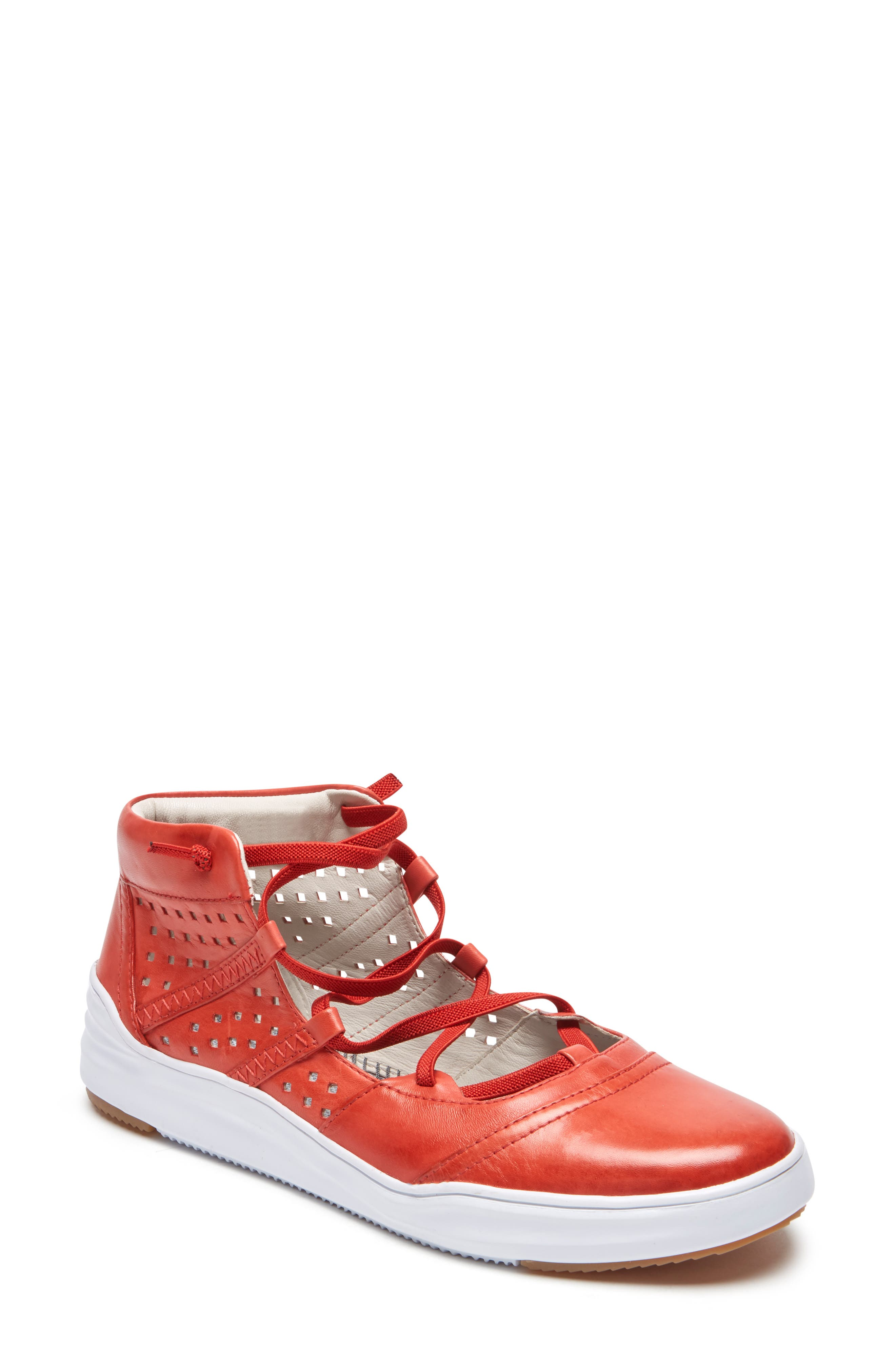 Rockport Cobb Hill Cady Gladiator Sneaker, Red