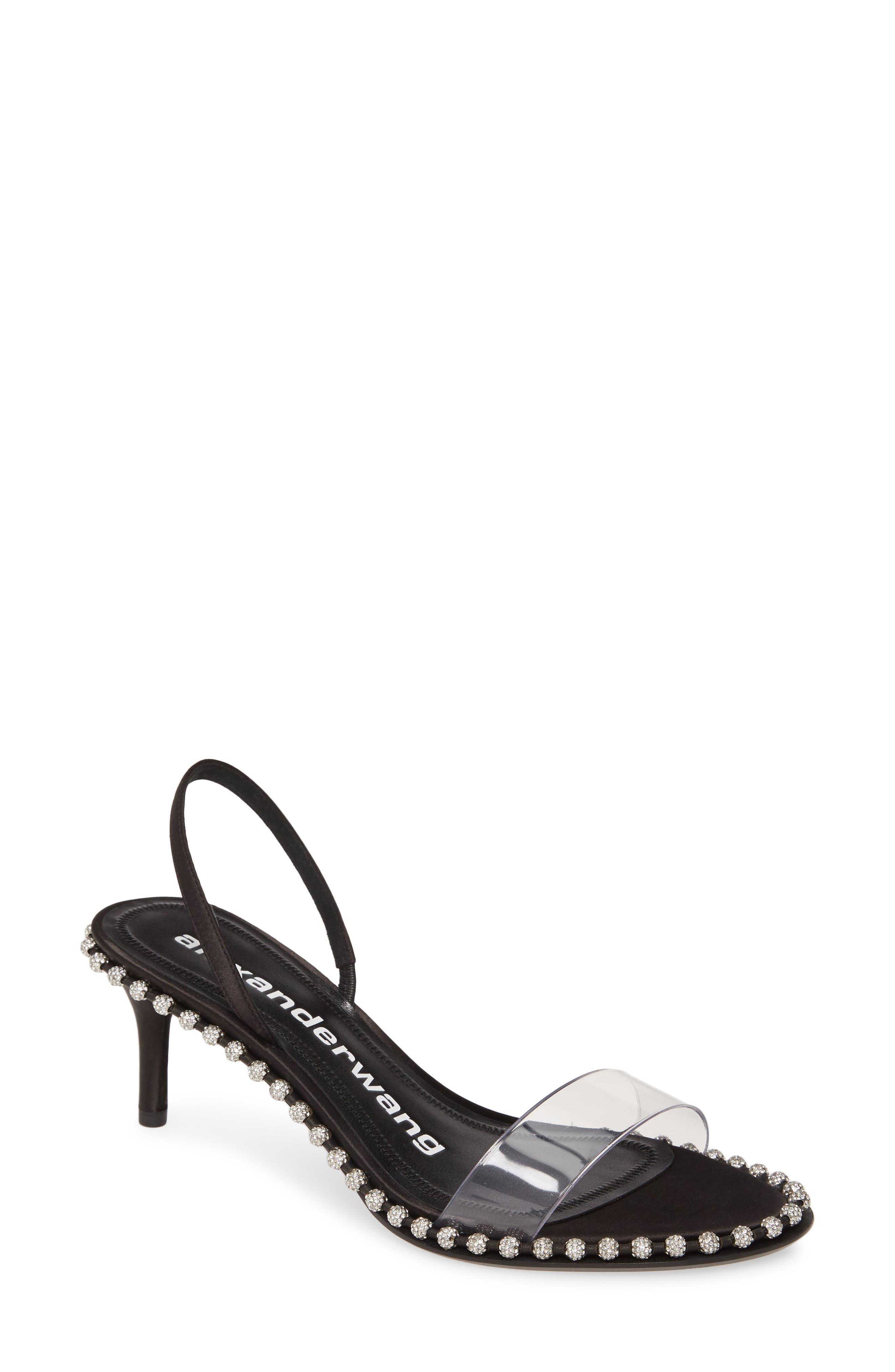 Alexander Wang Nova Crystal Studded Clear Sandal (Women)