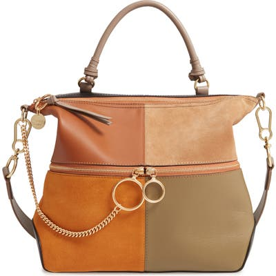 See By Chloe Emy Suede & Leather Satchel - Brown