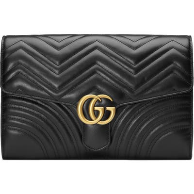 Gucci Gg Marmont 2.0 Matelasse Leather Clutch -