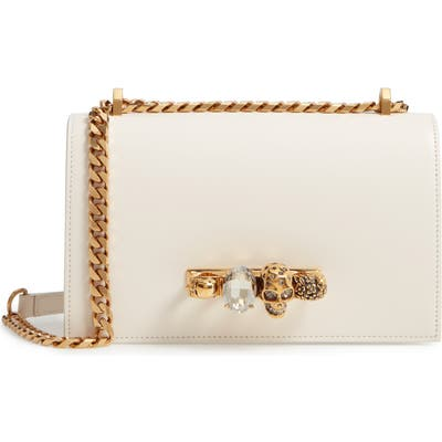 Alexander Mcqueen Leather Crossbody Bag - Ivory