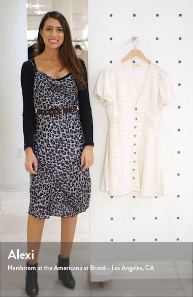 Sabrina Puff Sleeve Cover-Up Minidress, sales video thumbnail