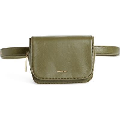 Matt & Nat Park Faux Leather Belt Bag - Green