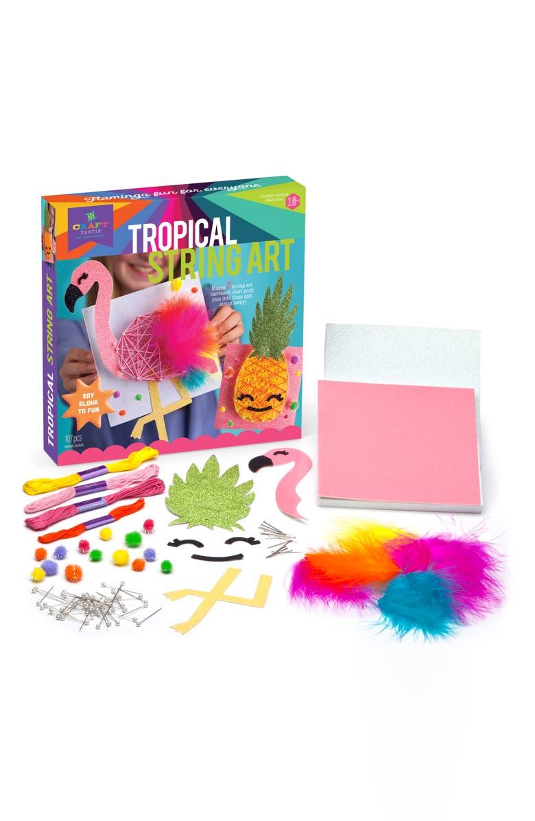 CRAFT-TASTIC Tropical String Art Craft Kit, Main, color, MULTI