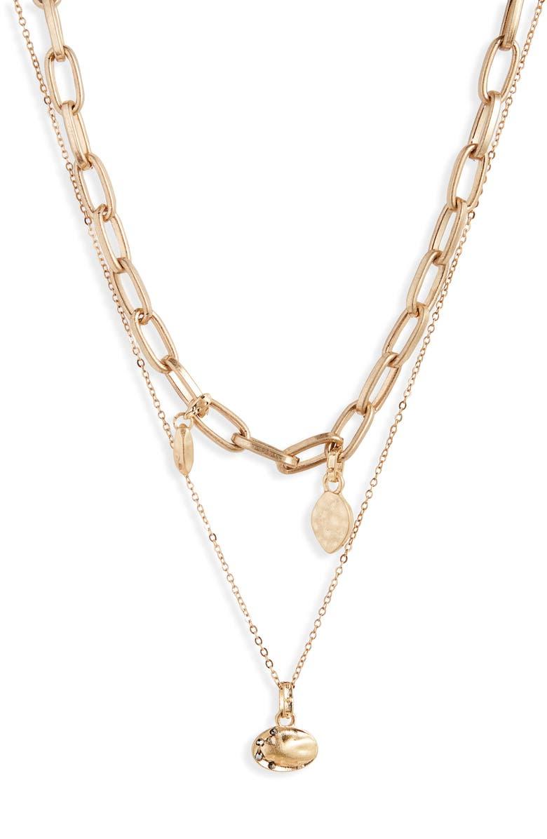 TREASURE & BOND Tier Chain Link Necklace, Main, color, 001