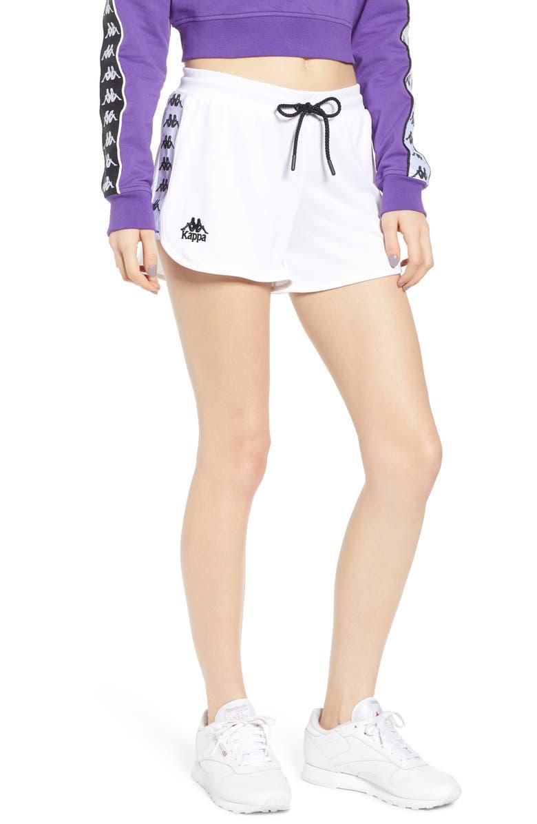 KAPPA Logo Tape Mesh Shorts, Main, color, 100