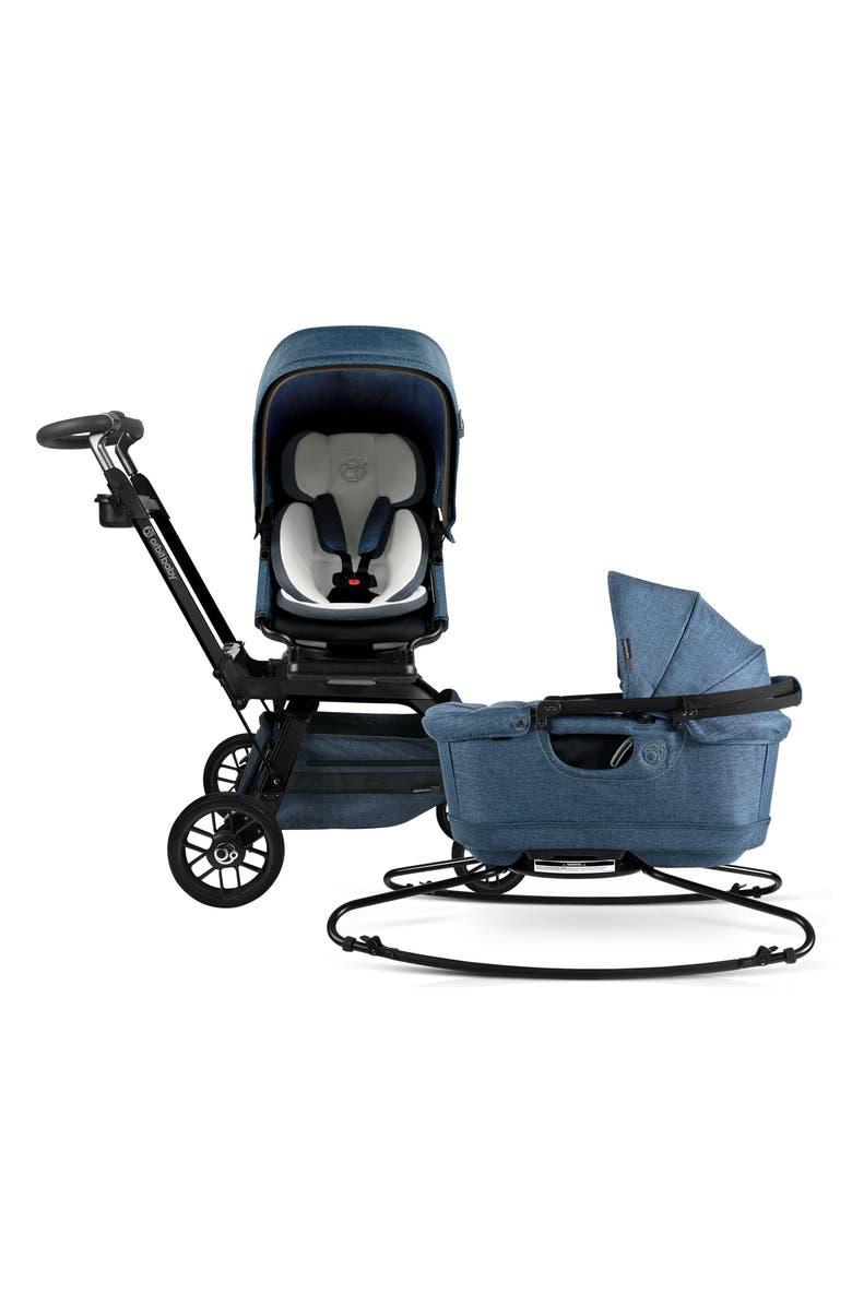 ORBIT BABY<SUP>®</SUP> Stroll & Sleep G5 Bassinet & Stroller Travel System, Main, color, BLACK/ MELANGE NAVY