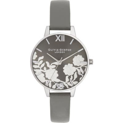 Olivia Burton Lace Leather Strap Watch,