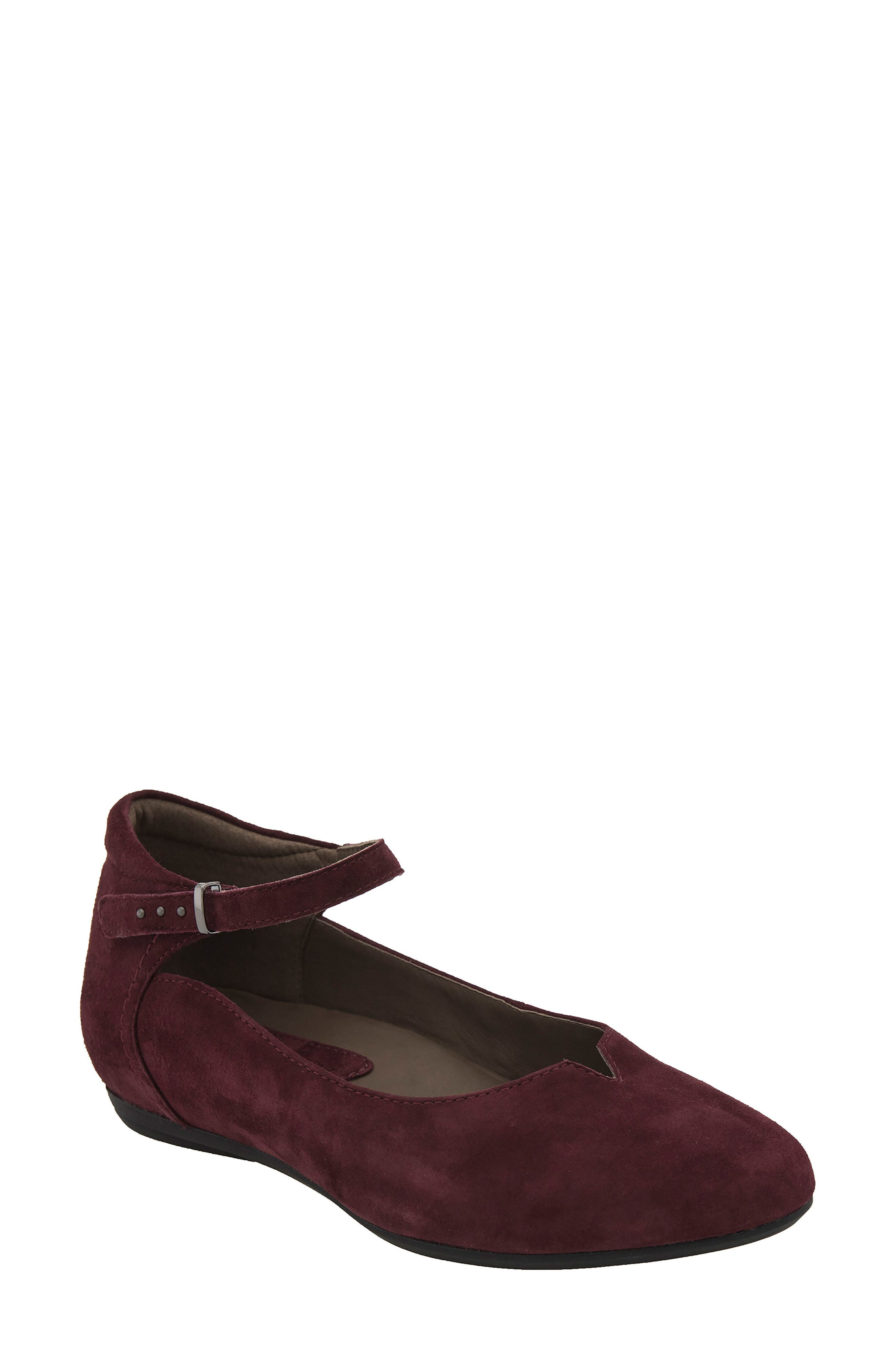 Earthies | Emery Ankle Strap Flat