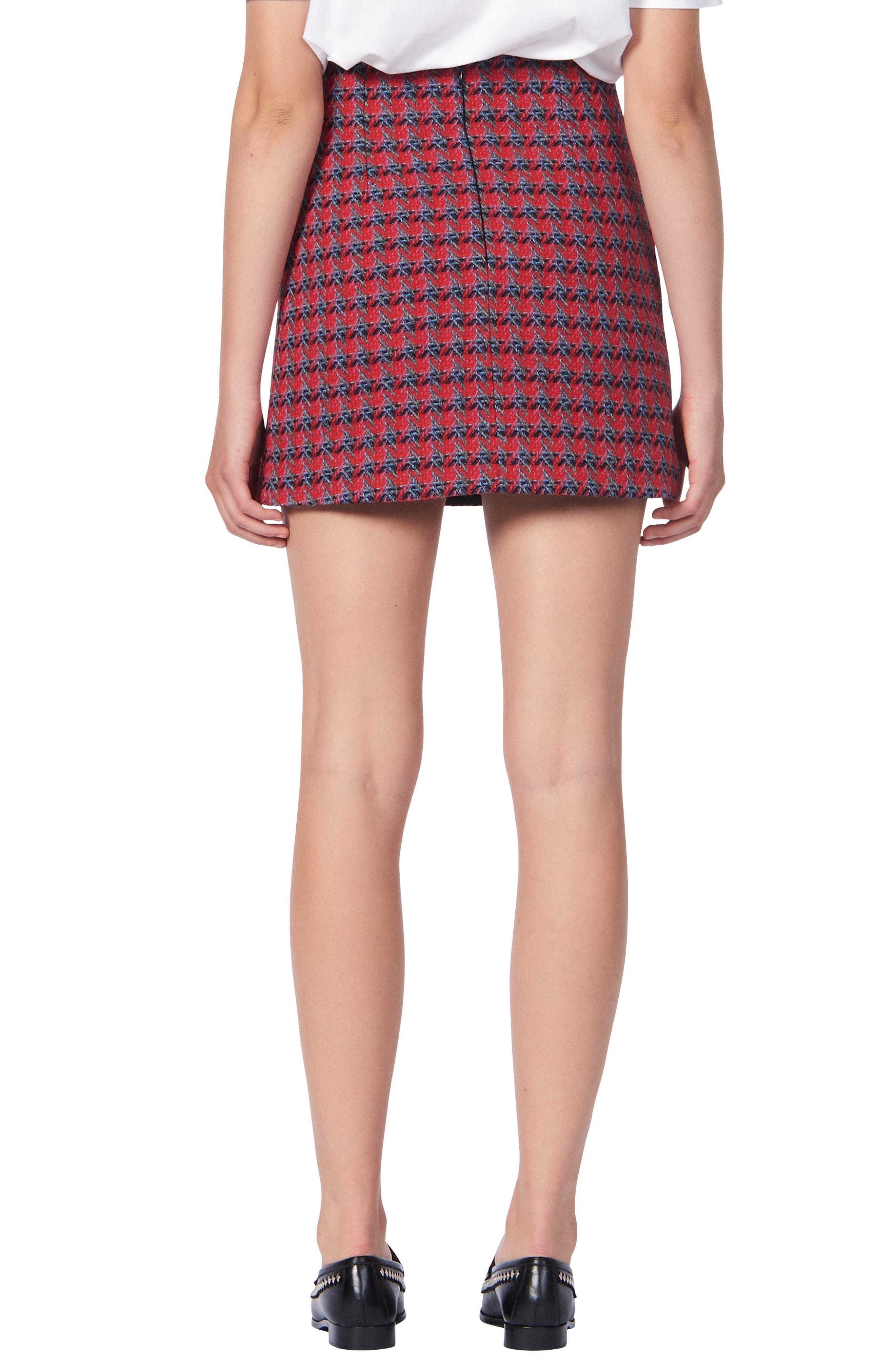 Sandro Skirts Efira Tweed Wool & Cotton Blend Miniskirt
