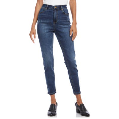 Karen Kane Distressed High Waist Skinny Jeans, Blue