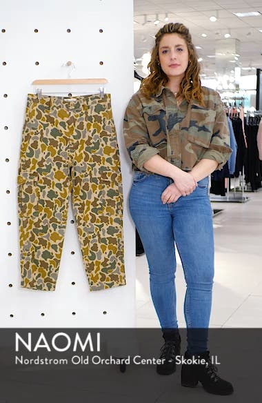High Waist Camo Cargo Pants, sales video thumbnail