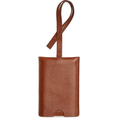 Madewell The Leather Luggage Tag - Brown