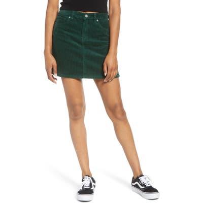 Blanknyc Corduroy Miniskirt, Green