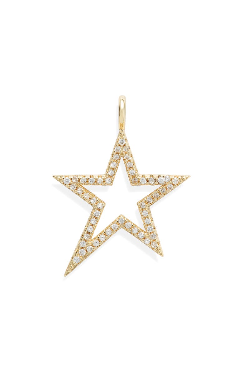 MELINDA MARIA Icons Shooting Star Charm, Main, color, GOLD/ WHITE
