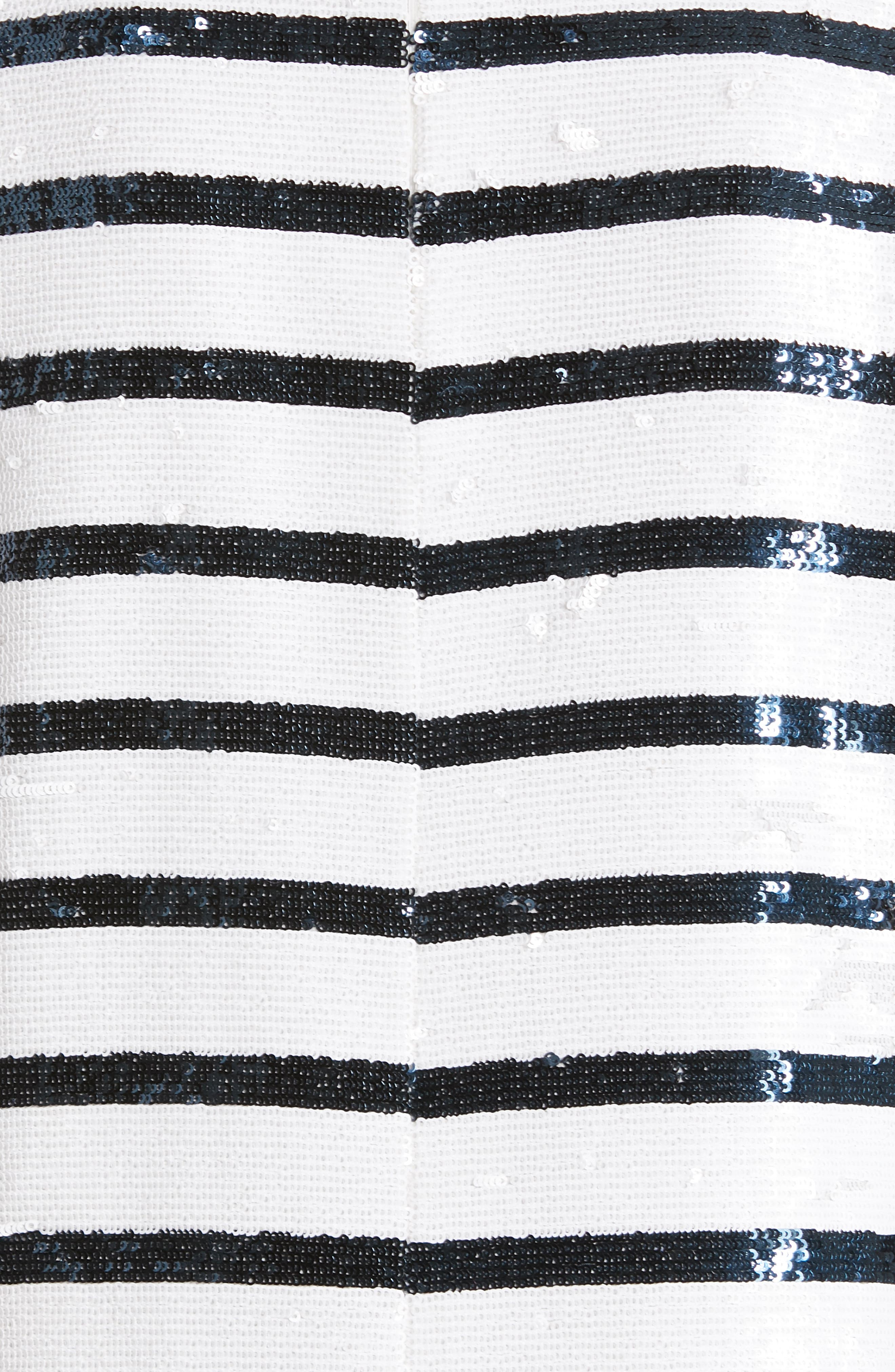 ,                             Sequin Stripe Tee,                             Alternate thumbnail 5, color,                             WHITE/ NAVY STRIPE