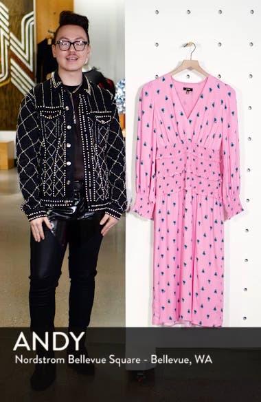 Hazel Floral Smocked Long Sleeve Midi Dress, sales video thumbnail