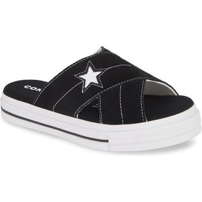 Converse One Star Platform Slide Sandal, Black