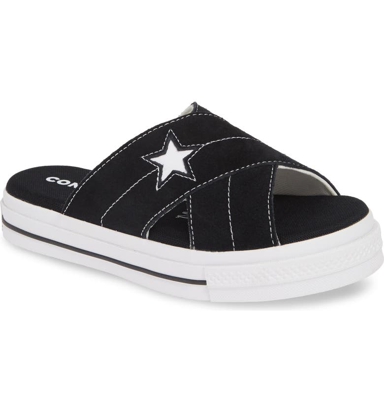 CONVERSE One Star Platform Slide Sandal, Main, color, 001