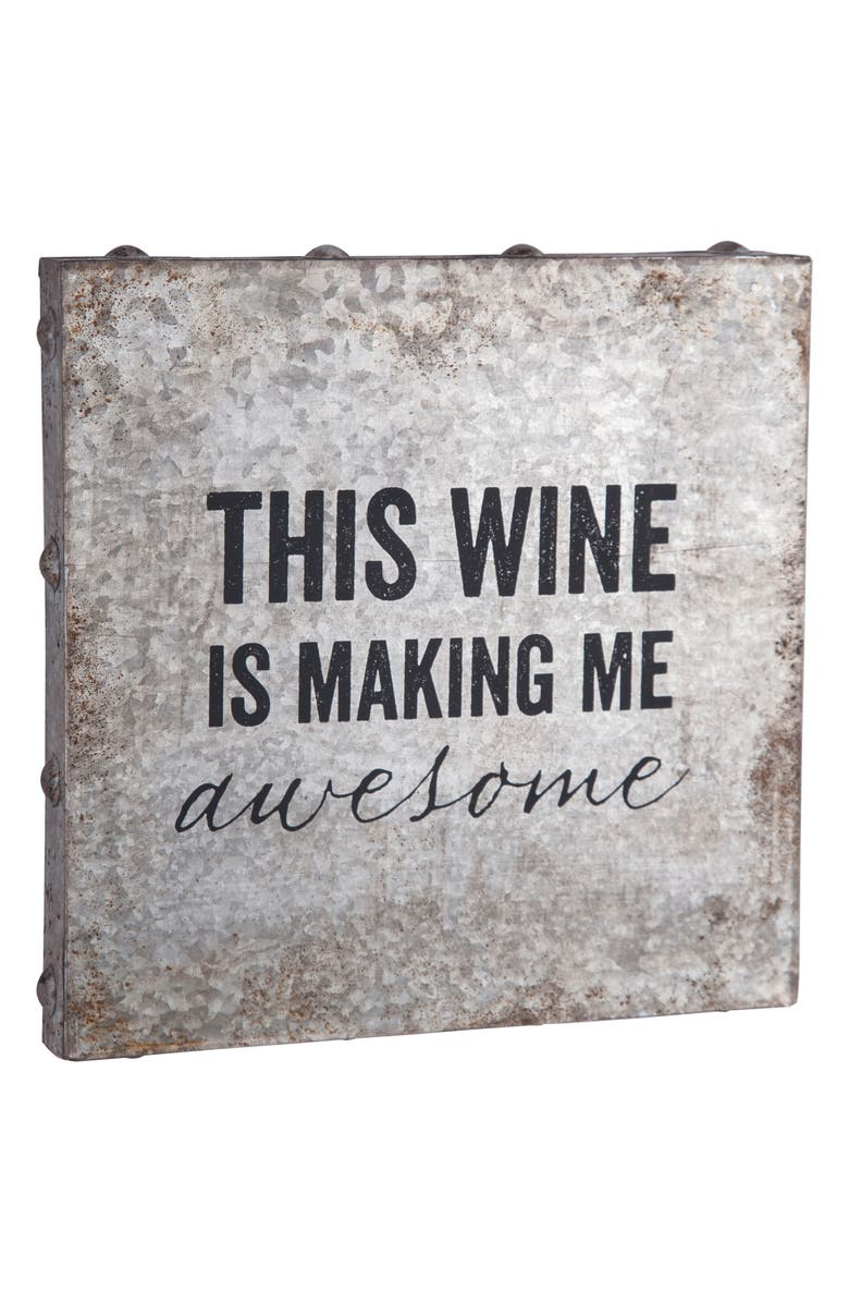 FORESIDE Wine Metal Wall Art, Main, color, 040