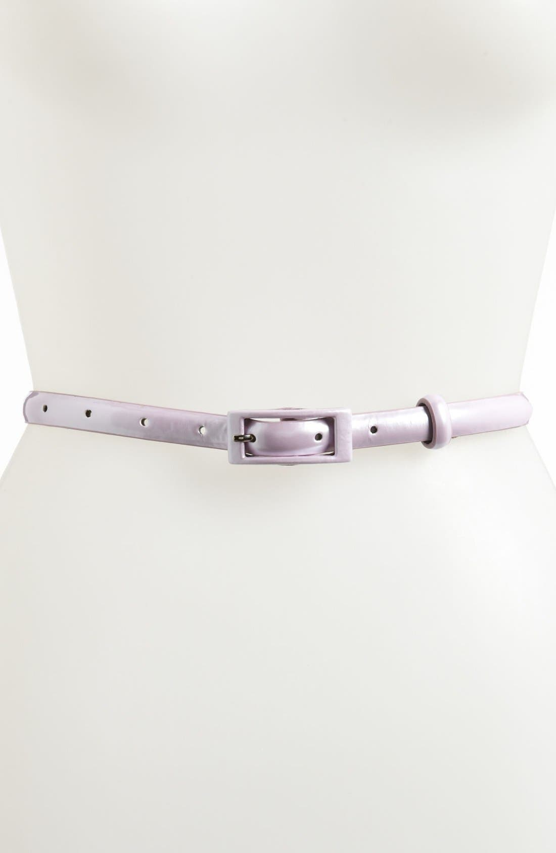,                             'Updated' Skinny Patent Belt,                             Main thumbnail 29, color,                             501
