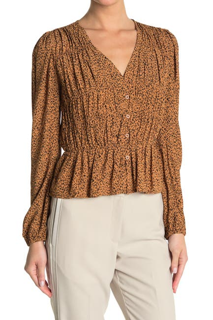 Image of Sophie Rue Flounce Front Long Sleeve Blouse