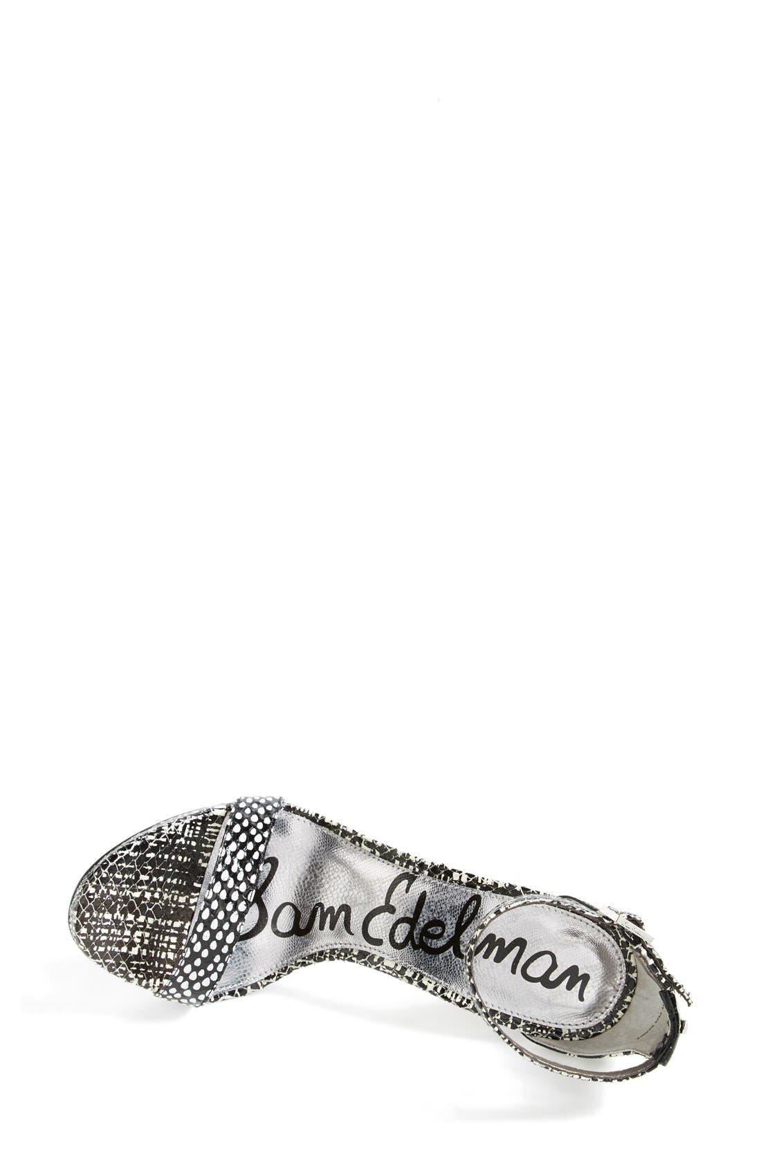 ,                             'Eleanor' Ankle Strap Sandal,                             Alternate thumbnail 16, color,                             002