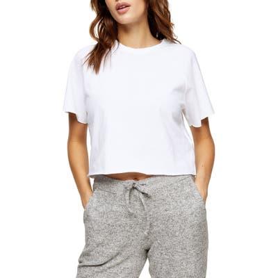Topshop Raglan Crop T-Shirt, US (fits like 16-18) - White