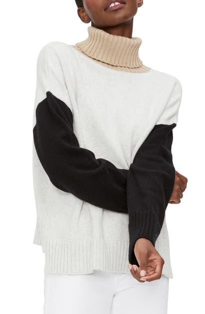 Michael Stars Sweaters DARIA COLORBLOCK TURTLENECK SWEATER