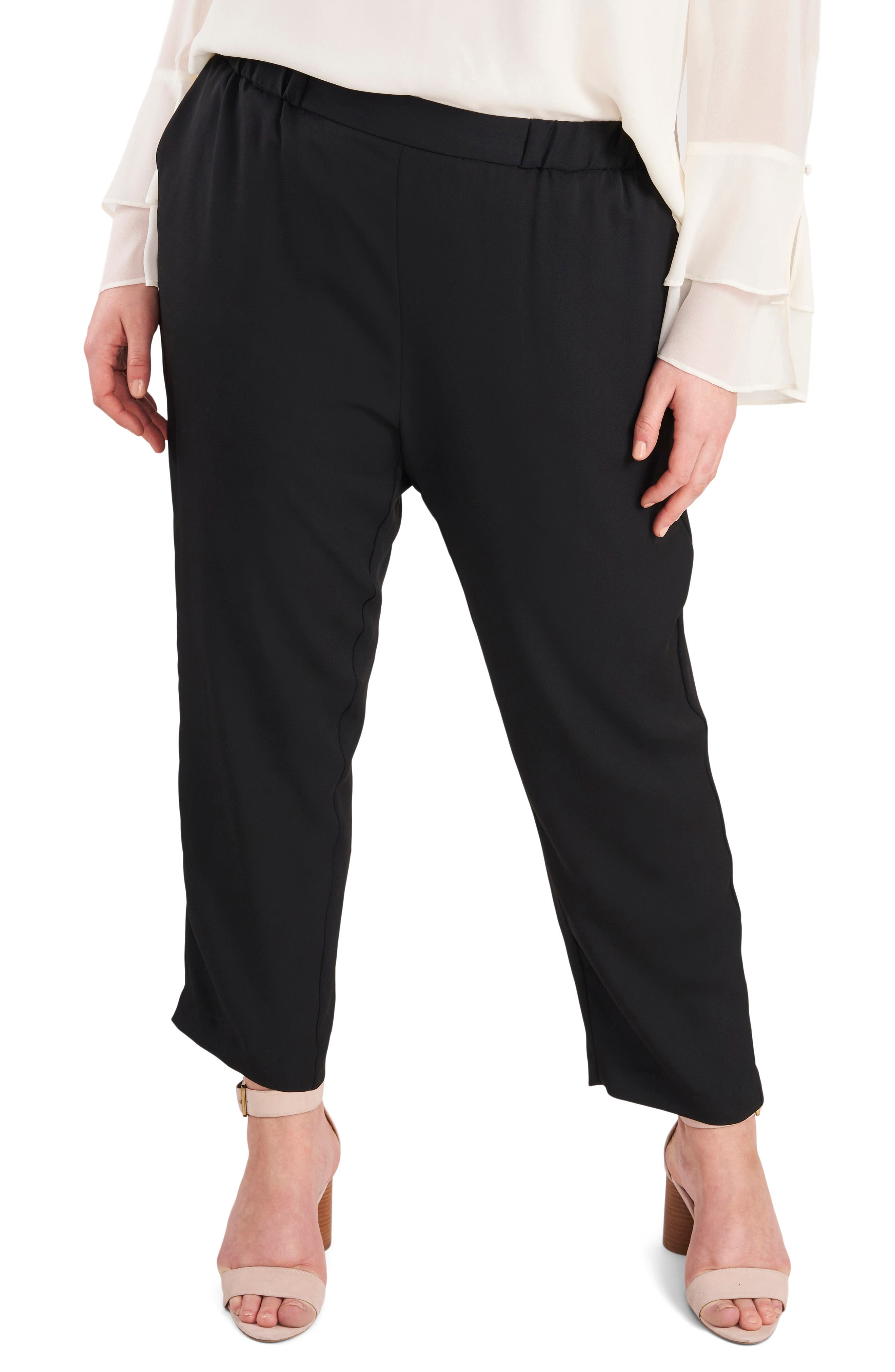 Plus Women's Vince Camuto Luxe Pull-On Pants