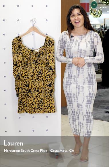 Animal Tea Long Sleeve Minidress, sales video thumbnail