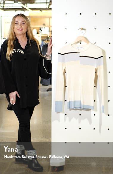 White Label Stripe Rib Sweater, sales video thumbnail
