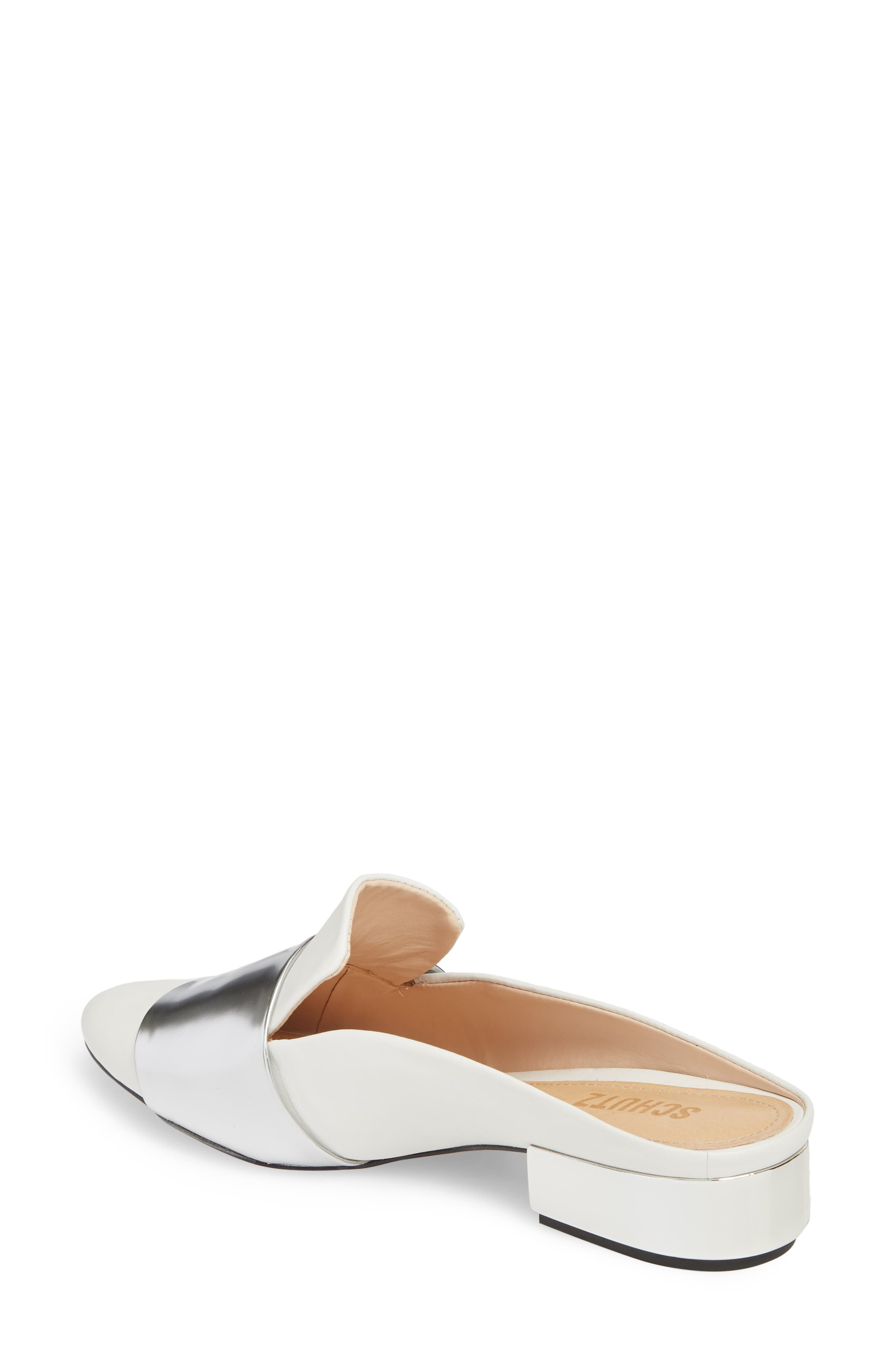 ,                             Eunice Mule,                             Alternate thumbnail 2, color,                             WHITE SUEDE