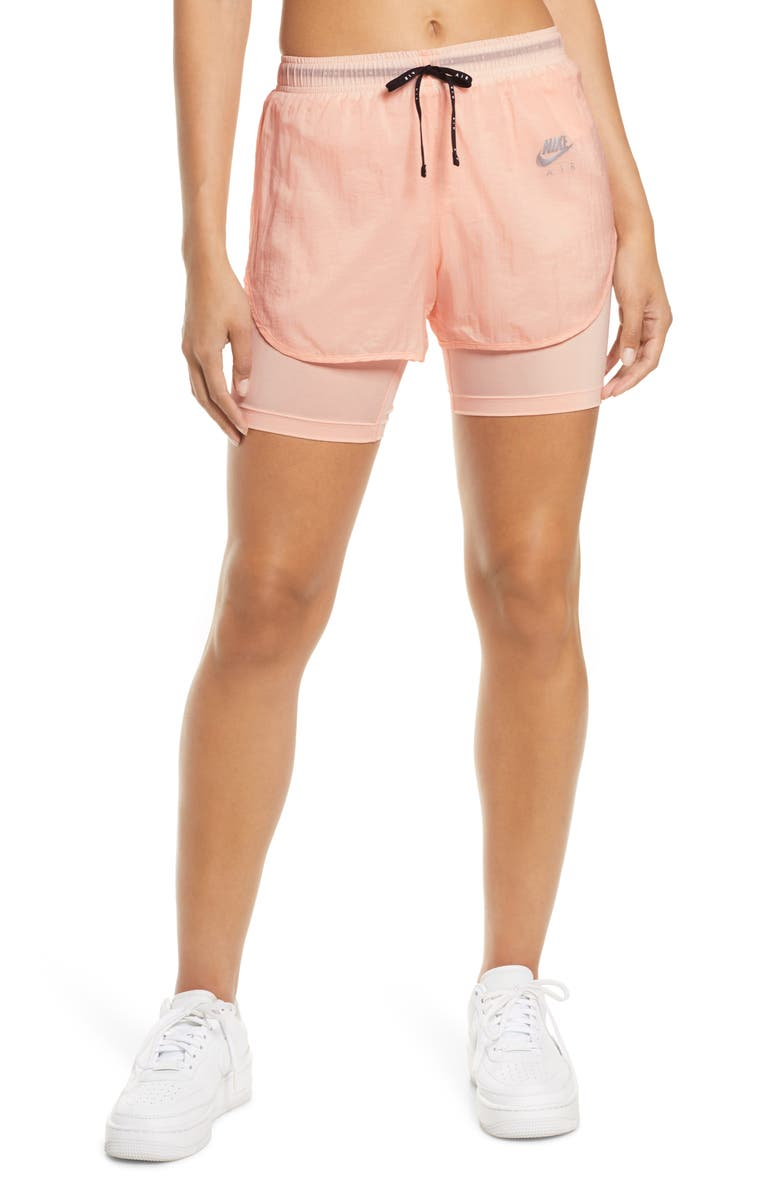 NIKE Air 2-in-1 Performance Shorts, Main, color, WASHED CORAL