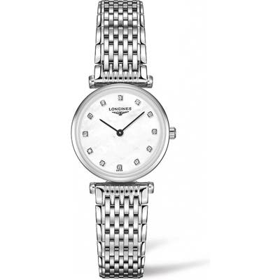Longines La Grande Classique De Longines Diamond Bracelet Watch, 2m