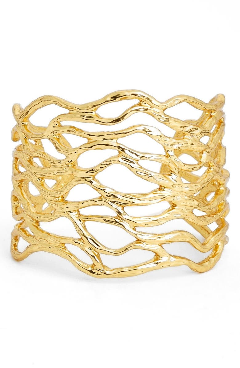 KARINE SULTAN Open Cuff, Main, color, GOLD