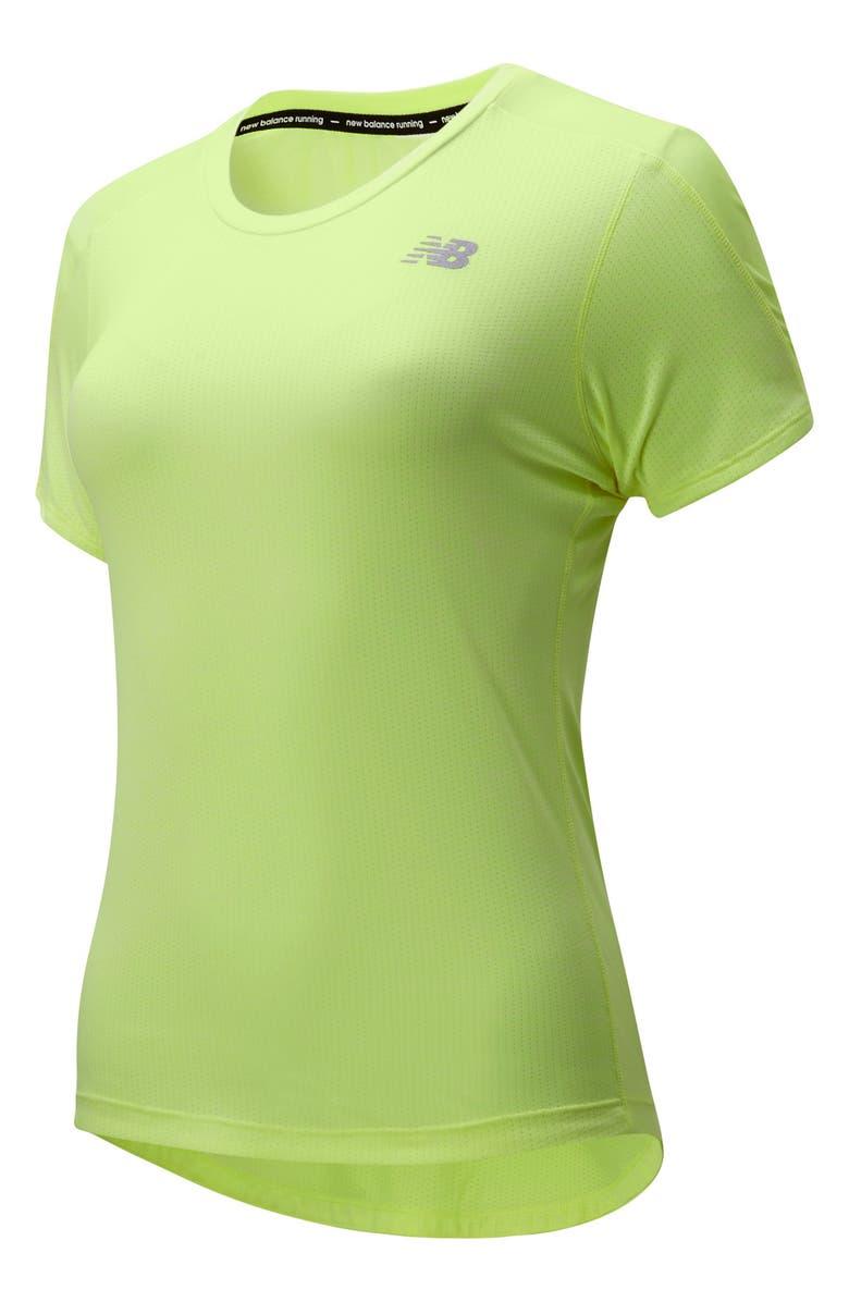 NEW BALANCE Impact Run Performance T-Shirt, Main, color, LEMON SLUSH