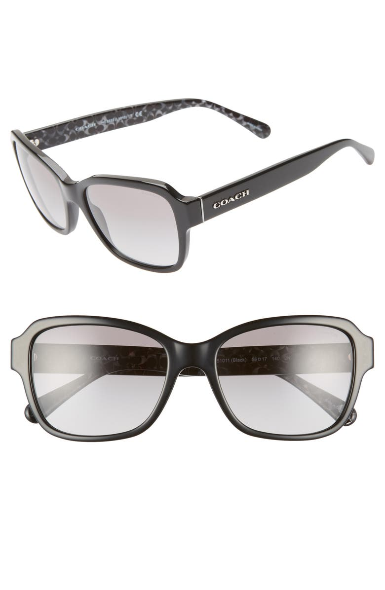 COACH 56mm Rectangular Sunglasses