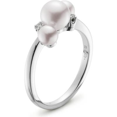 Mikimoto Pearl & Diamond Ring