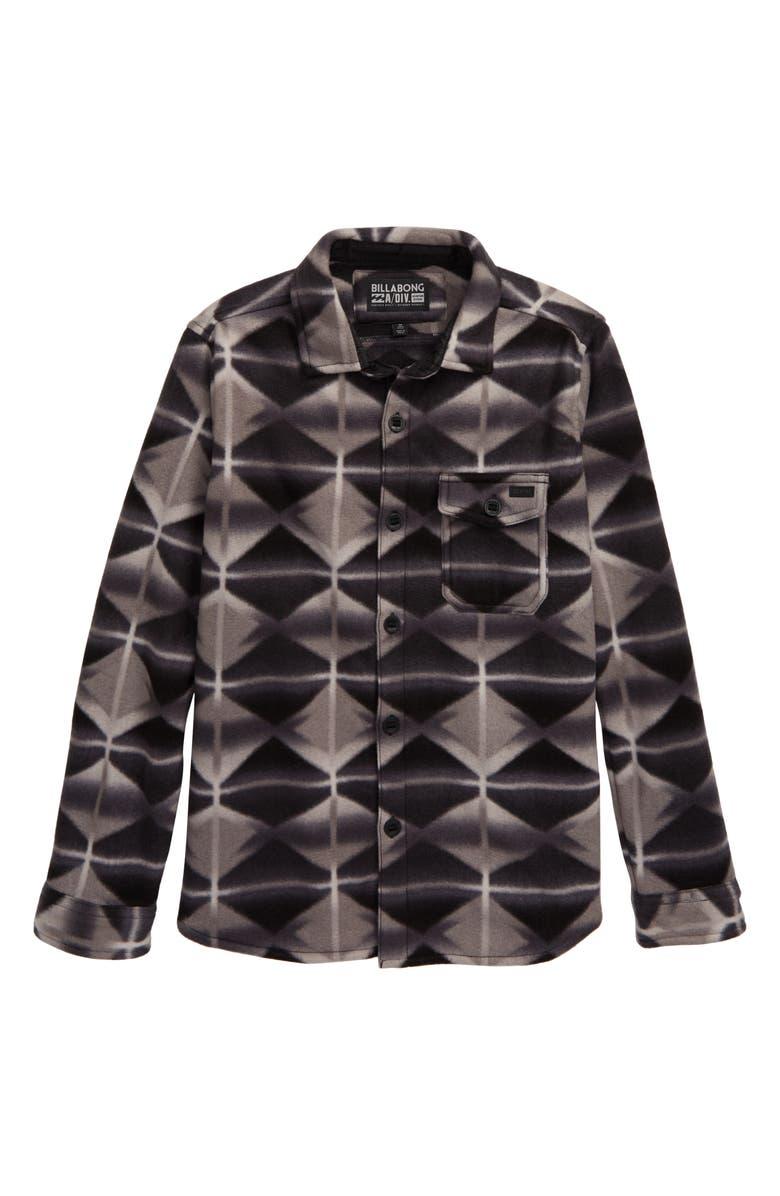 BILLABONG Furnace Polar Fleece Shirt, Main, color, BLACK
