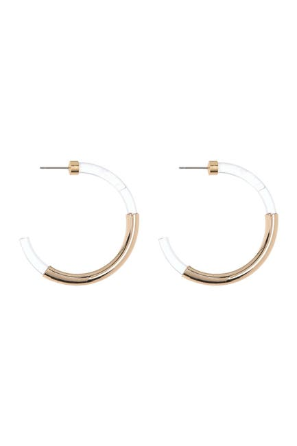 Image of AREA STARS Acrylic Hoop Earrings