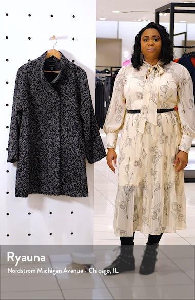 High Collar Alpaca & Wool Blend Coat, sales video thumbnail