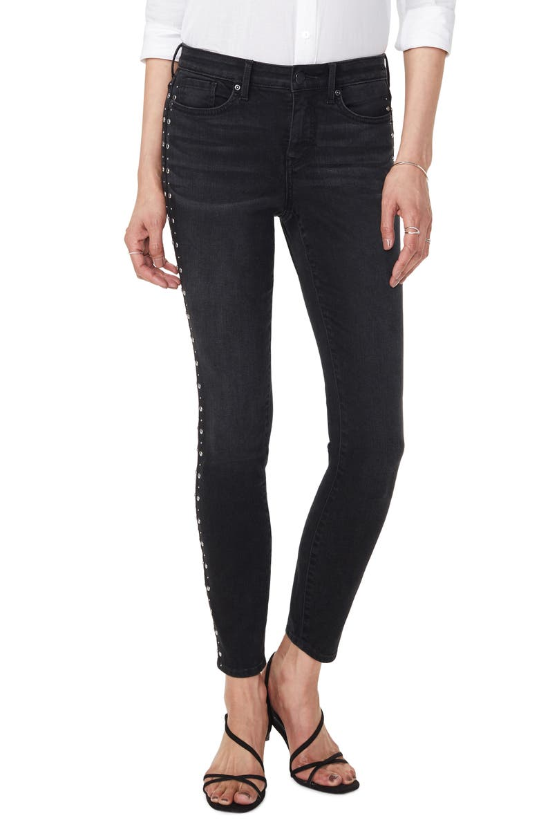 NYDJ Ami Studded Skinny Jeans, Main, color, FRANNIE