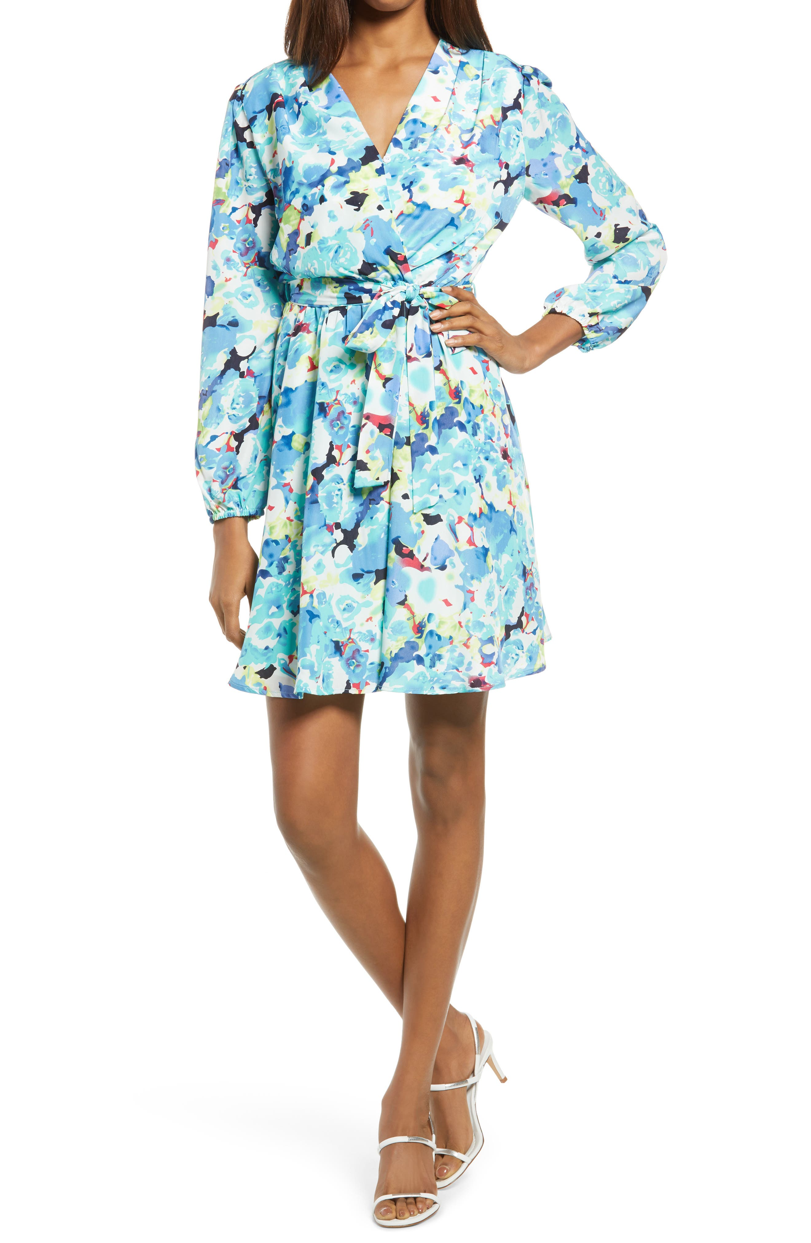 Miso Floral Long Sleeve Minidress