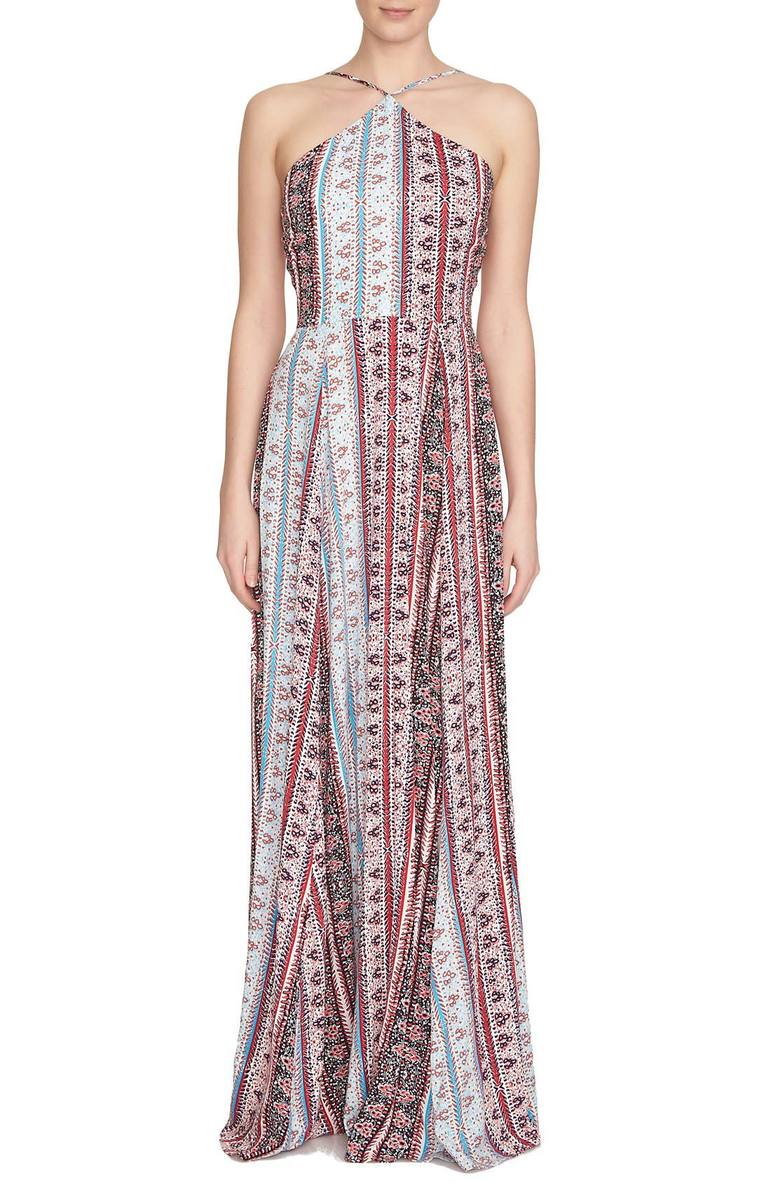 1.STATE Mixed Print Maxi Dress | Nordstrom