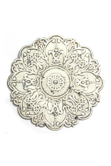 Image of Stratton Home White Small White Medallion Wall Decor